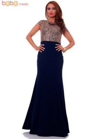 Rochie lunga DeLuxe Melody Navy